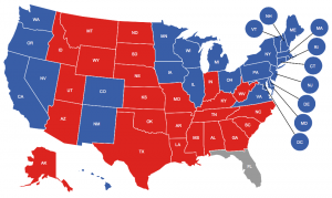 Up to date voting map