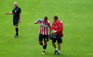 Ched Evans playing for Sheffield United in 2010.