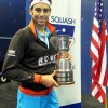 On top of the world, UWE's Mohamed El Shorbagy claims the US Open title and the number one ranking // squashpics.com